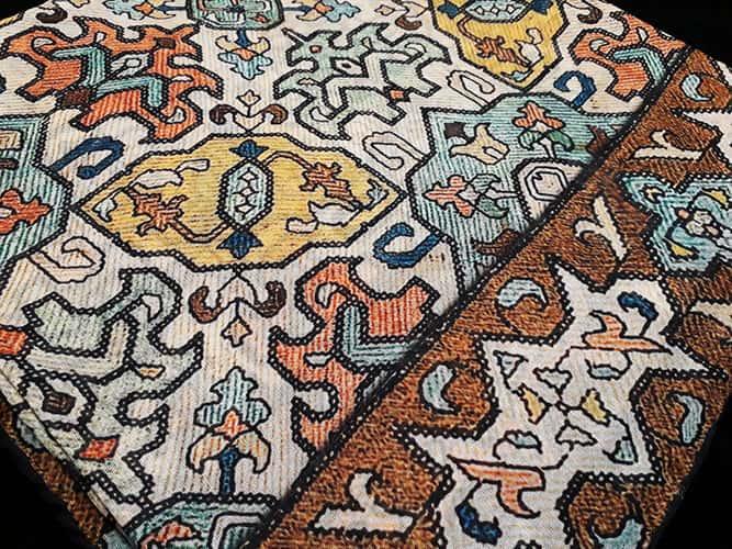 روسری نخی ژوپین طرح شماره دوزی