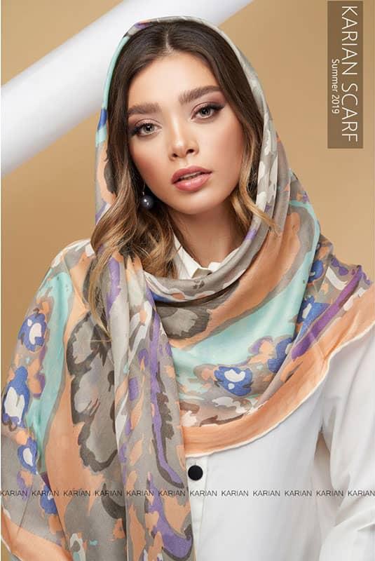 روسری نخی گلدار