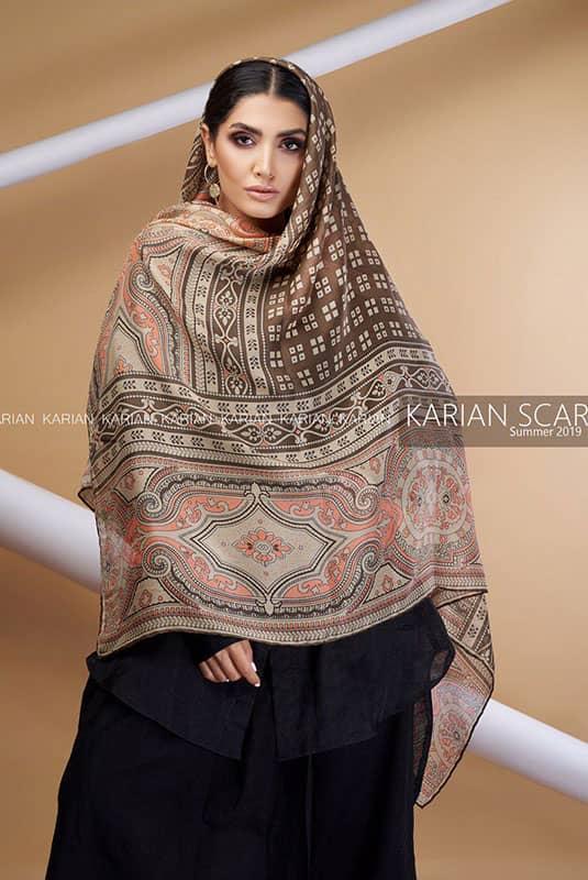 روسری نخی کاریان طرح سنتی