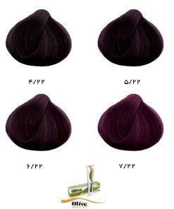 رنگ موی الیو گروه بنفش