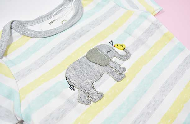 ست لباس دو تکه دانالو طرح فیل و جوجه کد 1145