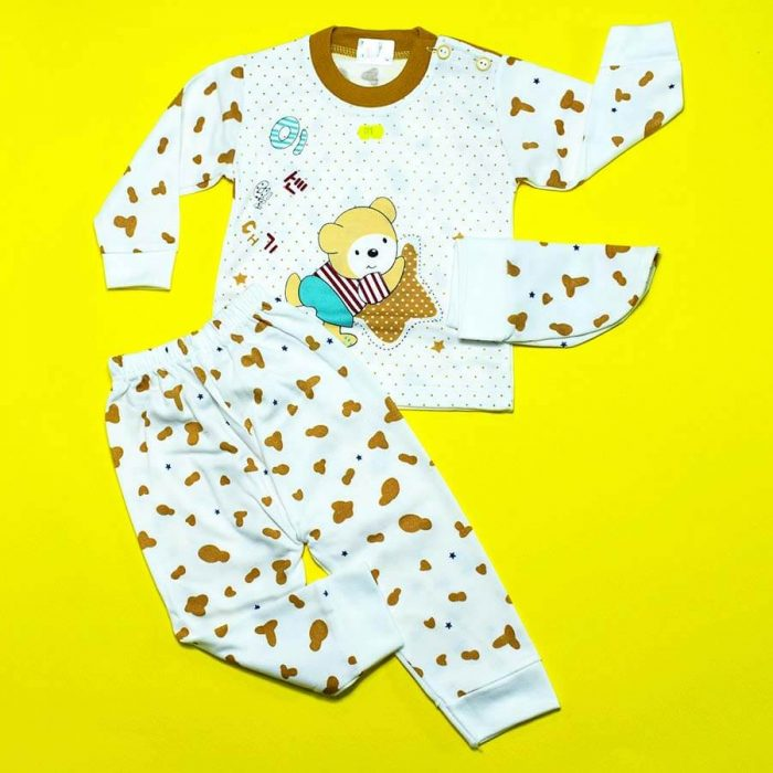 ست لباس سه تکه خرس خالدار