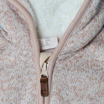 سویشرت کلاهدار دخترانه مخملی اچ اند ام H&M