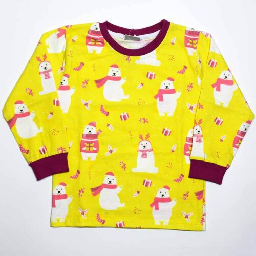 ست بلوز شلوار راحتی خرس کریسمس