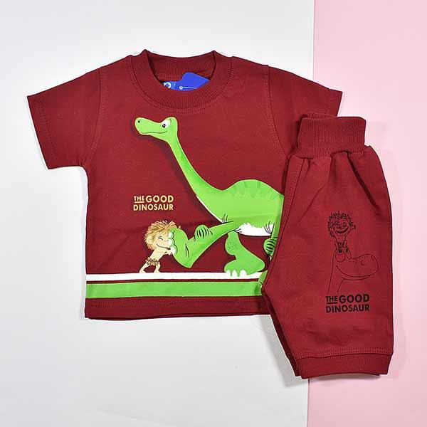 بلوز و شلوارک پسرانه دایناسور خوب کد 2176
