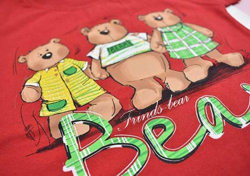 بلوز و شلوارک طرح سه خرس کد 2171