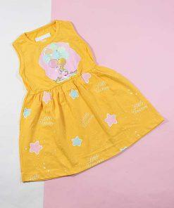 پیراهن دخترانه بچه گانه طرح بادکنک کد 2212 زرد