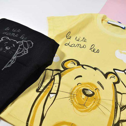 تیشرت شلوارک پسرانه بچه گانه طرح خرس کد 2209