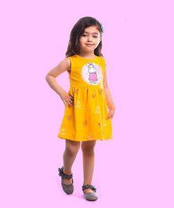 عکس مدل پیراهن دخترانه اسب آبی کد 2187