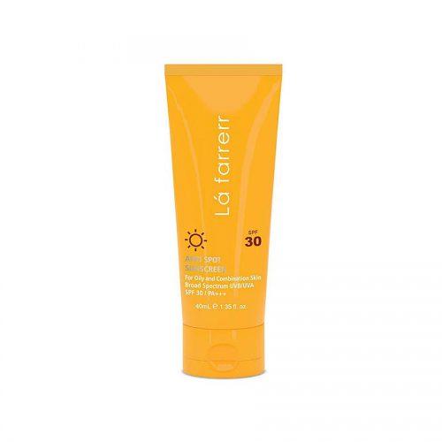کرم ضد آفتاب ضد لک بیرنگ لافارر مخصوص پوست چرب SPF30