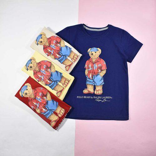 تیشرت پسرانه بچه گانه طرح خرس پولو کد 2192