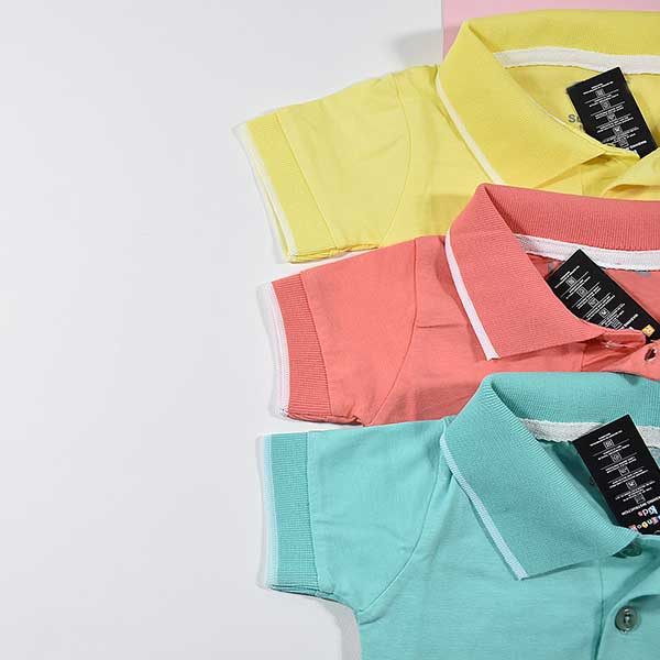 رنگبندی تیشرت پسرانه بچه گانه طرح پولو کد 2188