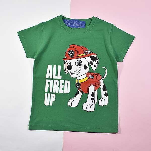 تیشرت پسرانه بچه گانه سگهای نگهبان کد 2215 سبز