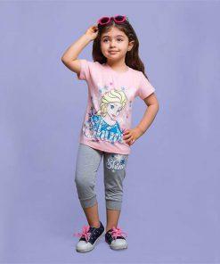 عکس مدل بلوز و شلوار دخترانه شاین کد 2186