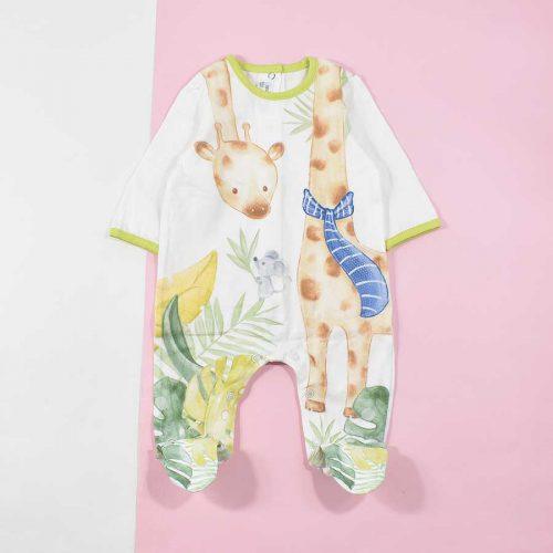 سرهمی نوزادی پسرانه طرح زرافه کد 1201