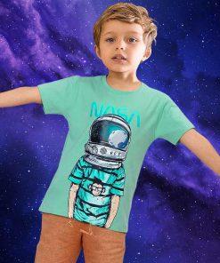 عکس مدل تیشرت پسرانه بچه گانه طرح فضانورد کد 2237
