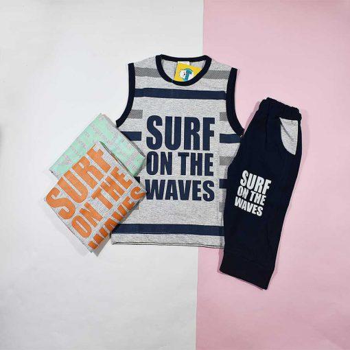 تاپ شلوارک پسرانه بچه گانه طرح surf کد 2232