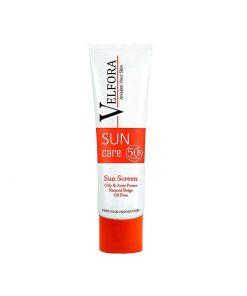کرم ضد آفتاب بی رنگ پوست چرب ولفورا SPF50 بژ طبیعی