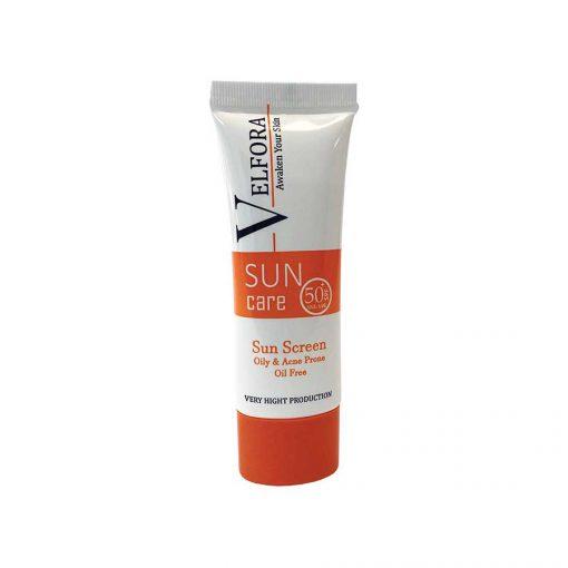 کرم ضد آفتاب بی رنگ پوست چرب ولفورا SPF50